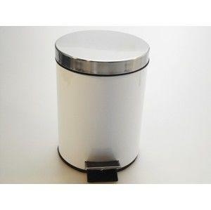 MAKRO - Nerezový odpadkový kôš so šliapadlom 20l - biely