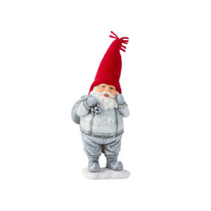 Santa strieborno červený 19cm